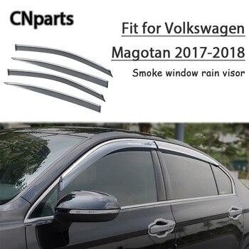 CNparts 4pcs ABS For Volkswagen Magotan 2017 2018 Car Smoke Window Visor Keep  Fresh Air  convection Accessories