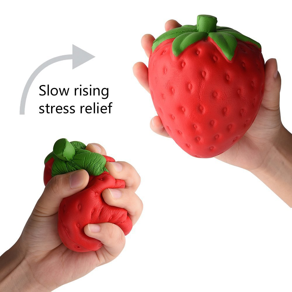 1 Pcs Stress Relief Toy For Children Adult Decompression Ball Fun Antistress Birthday Xmas Funny Gift Strawberry Doll Soft Toys