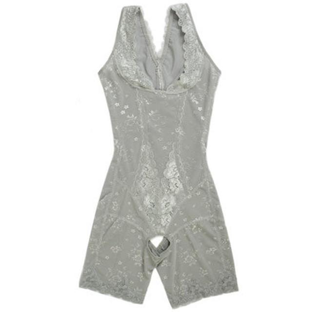 ABYABYGO Womens Body Shapers Lace Slim Underwear Enhanced Waist Trainer Corsets Butt Lifter Sculpting Shapewear Bodysuit 41-85kg