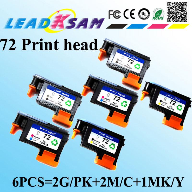 6pcs Remanufactured 72 Printhead For Hp72 Print Head For Hp Designjet T610 T620 T770 T790 T1100 T1120 T1200 T1300 T2300 Shrink-Proof