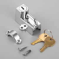 Motorcycle Helmet Lock With 2 Keys For Chrome Black 22mm 7/8 Tube For Universal Motorcycles Accessories