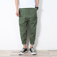 2017 mens вскользь армия брюки лето pantalones homme свободно лодыжки длина брюки для мужчин штаны гарем брюки jogger брюки мужчины