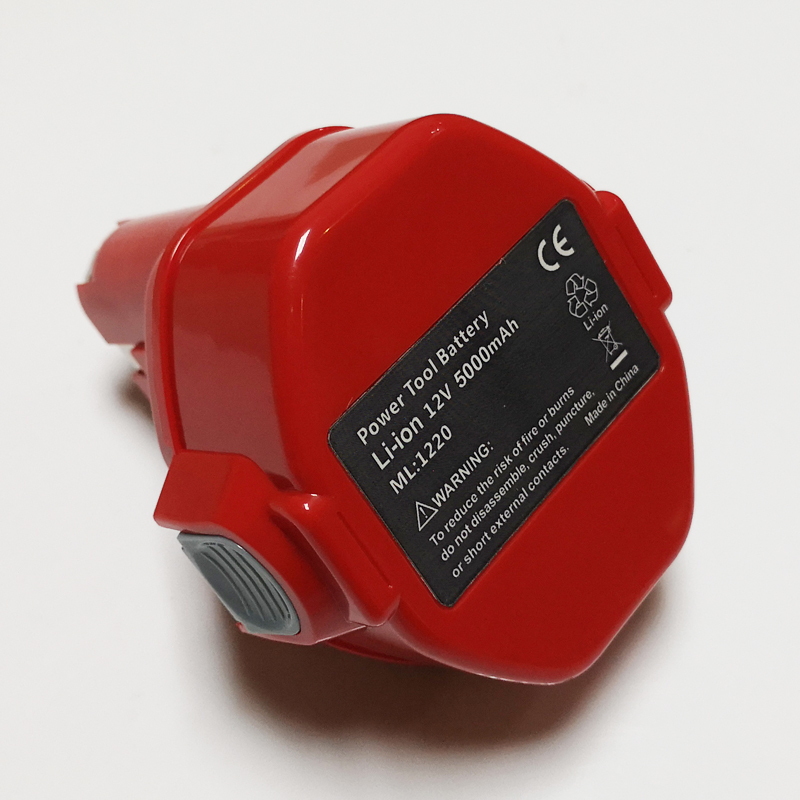 Célula de batería de ion de litio recargable para taladro eléctrico inalámbrico Makita, destornillador 1050D 4331D 5093D 4013D 4191D 6917D, 12V, 5,0ah