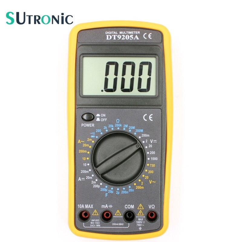 DT9205A Basic Digital Multimeter Capacitance hFE Test Ammeter Voltmeter Resistance Tester AC DC Electric LCD Handheld