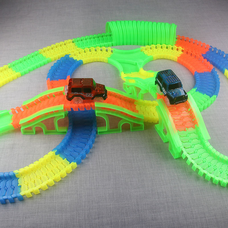300150-PCS-Bend-Flexible-Curve-Slot-DIY-Track-Toy-Set-with-glows-in-the-dark-Track-LED-light-Racing-Car-Toys-for-children-kids-3