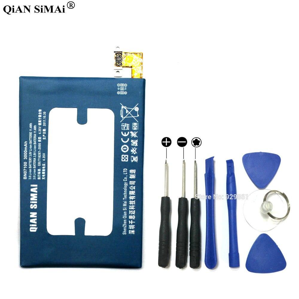 QiAN SiMAi BN07100 3000 mAh Batterie & Tournevis outils Pour HTC UN M7 802D 802 T 802 W 801E 801 S 801N + Code De Suivi