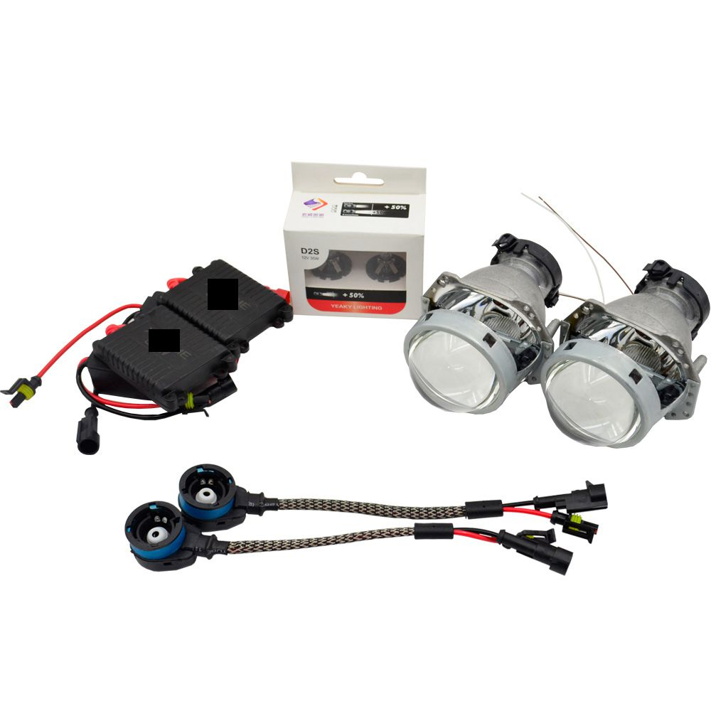 3.0 inch hella 5 car Bi xenon hid Projector lens car assembly kit with AC xenon ballast D2S xenon bulb conversion kit new m803 2 5 car motorcycle universal headlights hid bi xenon projector kit and m803 hid projector lens for free shipping