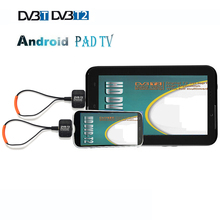 Portable Europe Digital Terrestrial DVB-T2 Android Phone / Pad Tablet Micro USB OTG Receiver HD Tuner Android TV stick Dongle
