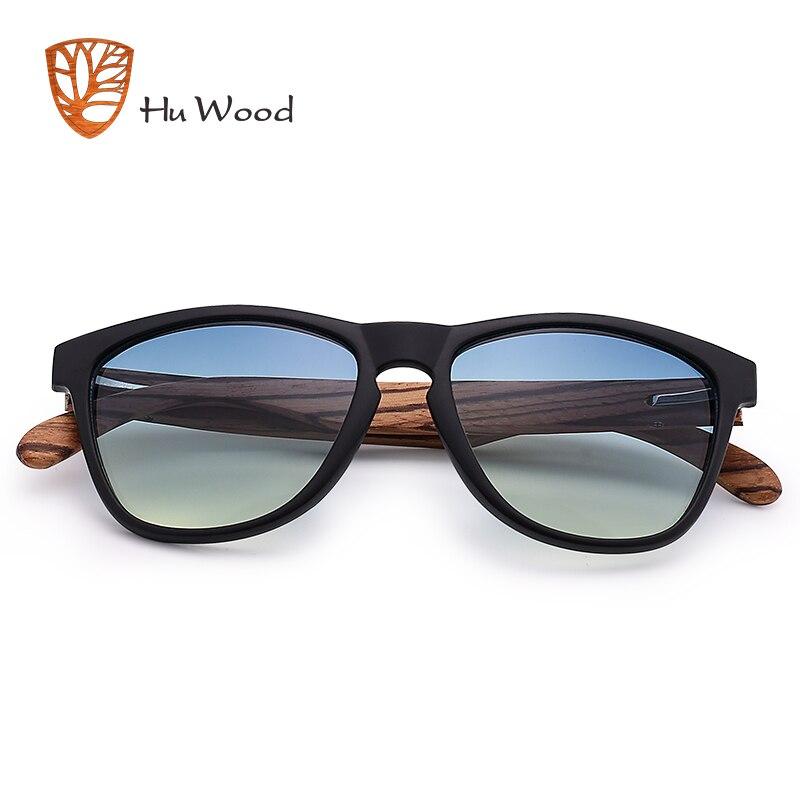 HU WOOD Brand Design Bamboo Sunglasses Sea Gradient Lenses UV400 Driving Shade Mens Sunglasses Eyewear gafas de sol hombr GR8012