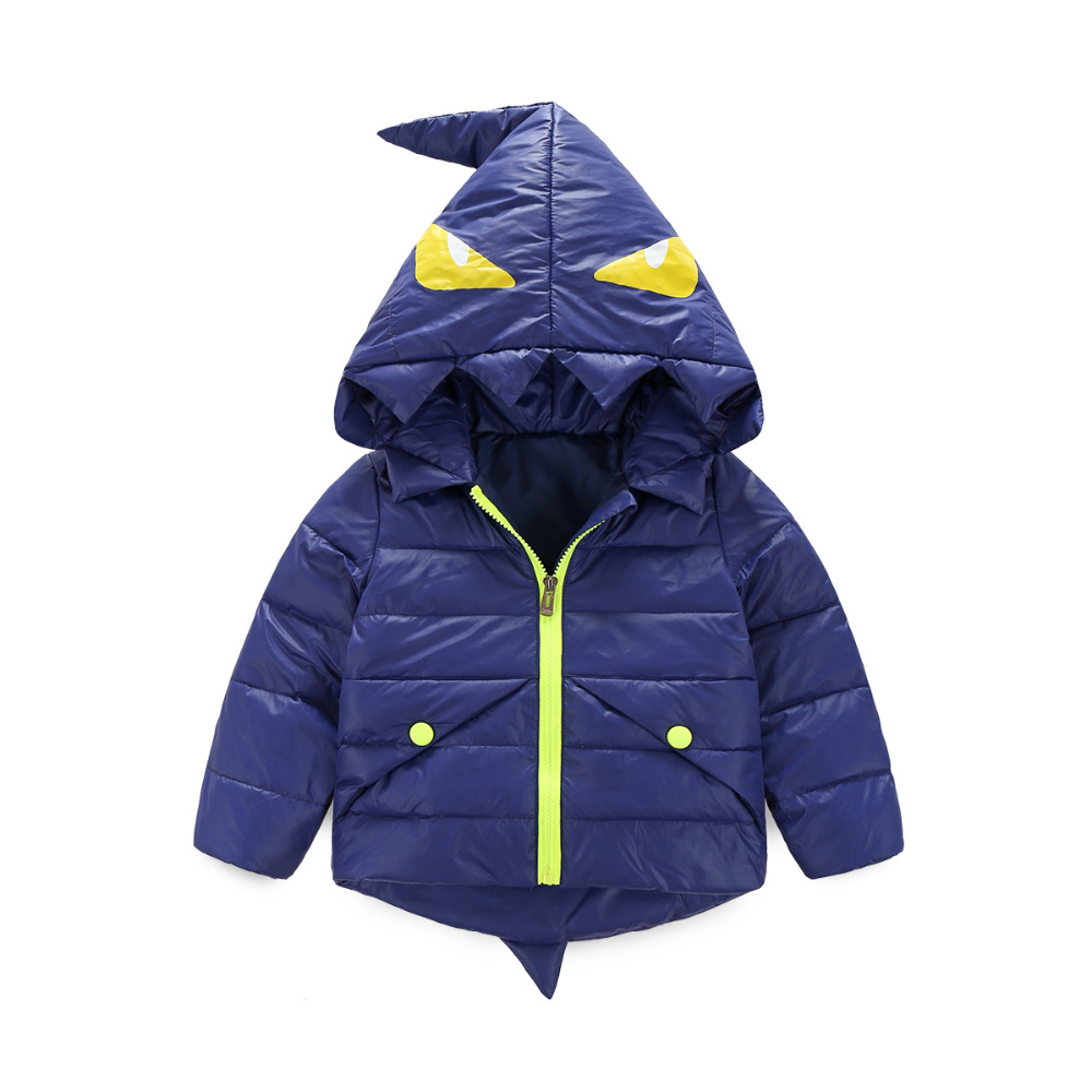 Kış Ceketler Çocuk Erkek Karikatür Tyrannosaurus Kızlar Kış Coat Çocuk Kabanlar Boys/Kızlar Aşağı Ceket Bebek Giyim
