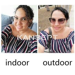 Image 2 - KANSEPT 1.56 Index Photochromic Grey / Brown Aspheric Prescription Brand Resin Lenses Anti UV Oil Water Reflect Glasses Lens