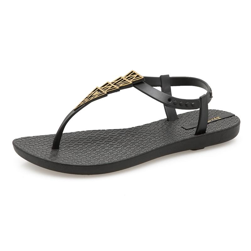 Moxxy Summer Flip Flops Women Flat Gladiator Sandals Women Slippers Outdoor Beach Flip Flops Diamond Plastic Shoes Jelly Sandal flip-flops