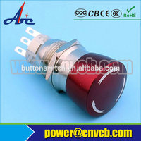 19112 IP67 sell-well metal 1NO1NC/2NO2NC solder/quick connect push button switch emergency stop switch