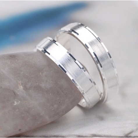 925 Silver White Gold Color Wedding Bands Engagement His And Her