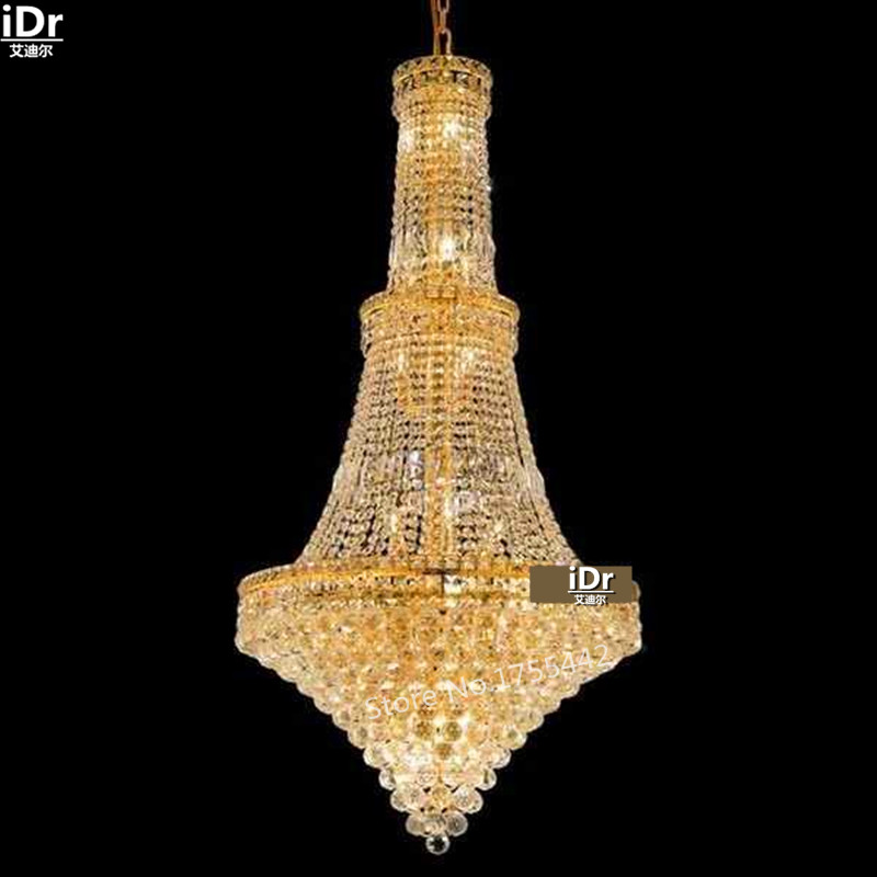 gold Chandeliers simple luxury luxurious hall corridor lamp crystal - Indoor Lighting