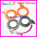 Right and Left Colorful Plastic Rim Trial Mineral Lenses Diameter 38mm for Trial Lens Set Frame XSL Free Shipping