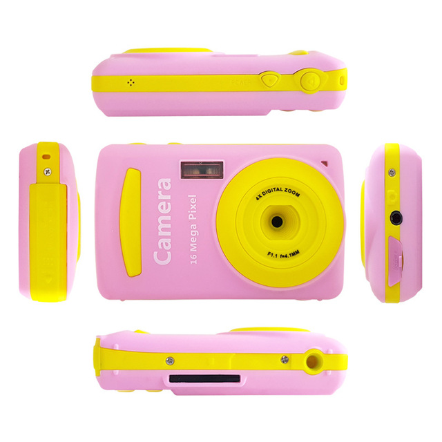 2.4 Inch 16MP 720P Mini LSR Cam Digital Camera for Kids Baby Cute Cartoon Multifunction Toy Camera Children Birthday Best Gift