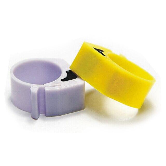 Gestion automatisée de la volaille 100 pièces EM4305 125-134.2KHZ étiquette RFID, anneau de pied avec étiquettes électroniques