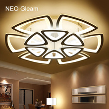 купить Modern ceiling lights Remote control living room bedroom modern led ceiling lights luminarias para sala dimming deckenleuchten по цене 6265.62 рублей