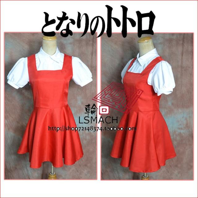 Free shipping anime Tonari no Totoro sister may  Cosplay Costume 1