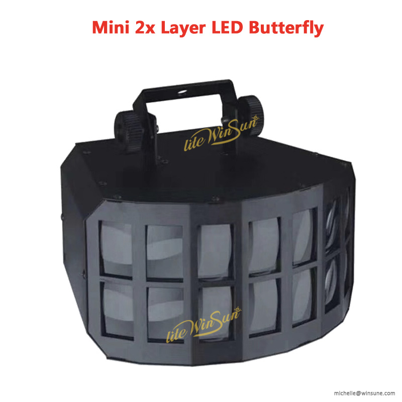 led mini butterfly lights dj stage effect lighting