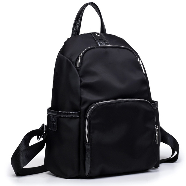 Black Women bag Oxford waterproof Backpack small School Bags For ...