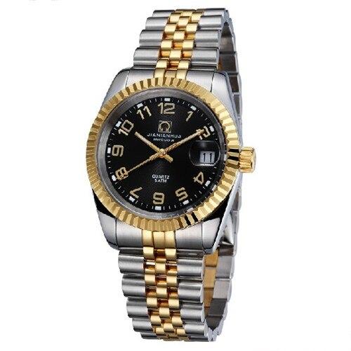 Carnaval luminoso impermeable totalmente automático de cuarzo para hombre reloj del ejército joyería de diamantes de imitación relojes masculinos de acero de marca de lujo - 3