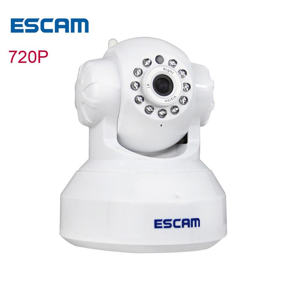 ESCAM QF001 Wifi Ip network camera wi-fi HD wireless 720P CCTV indoor home security camera Night Vision ip cam Cameras hd 1080p cctv wifi wireless ip camera ir cut night vision network ip cam wi fi home security camera support motion detection p2p