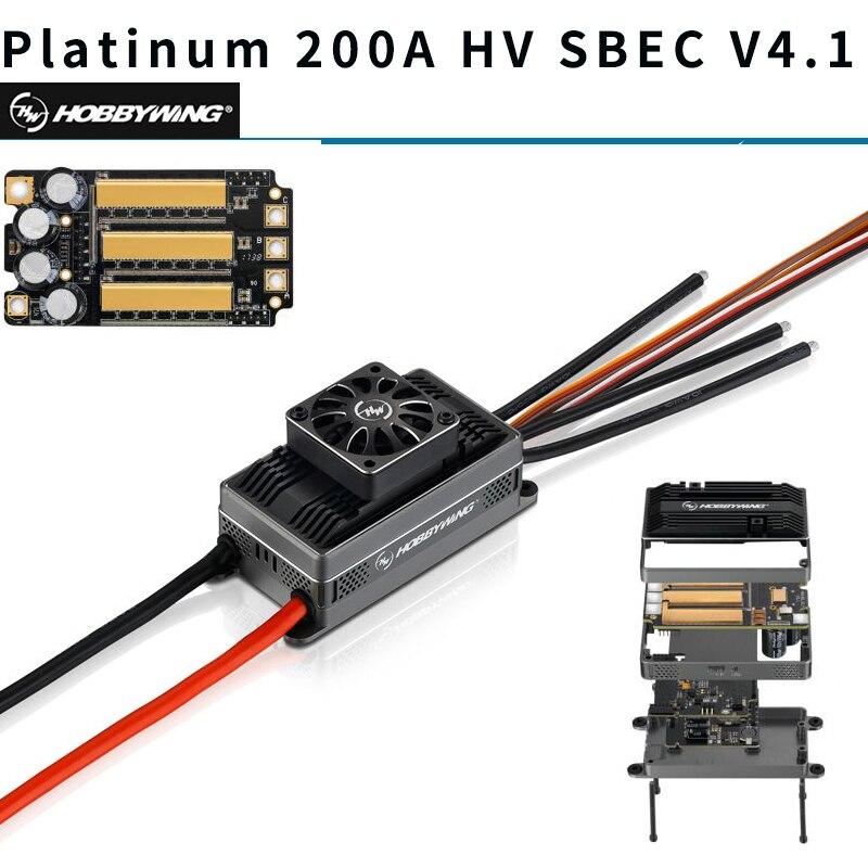 Original Hobbywing platine 200A HV SBEC V4.1 ESC 6-14 S contrôle de vitesse électronique avec BEC