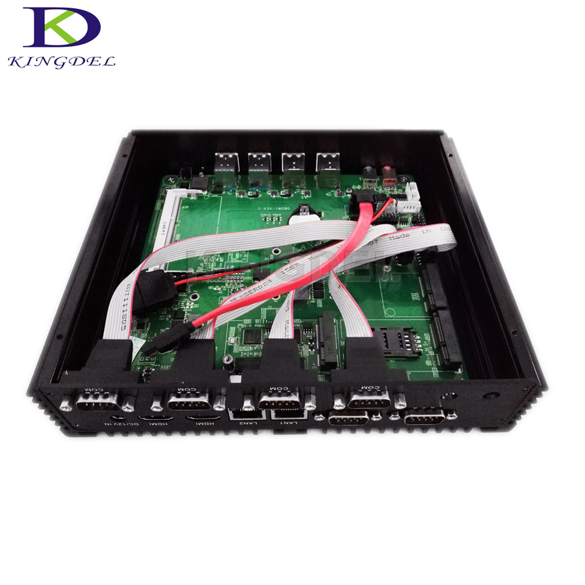 Fanless Mini Industrial PC with Broadwell Core i7 5550U CPU,