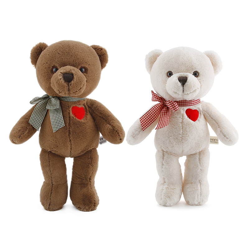 34cm Love Teddy Bear Plush Dolls Kids Toys For Baby