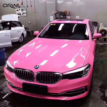 Super Glossy Crystal Vinyl Film PINK Gloss Car Wrap Foil With air bubble free Vehicle Auto Car Body Wrapping Sticker 1.52X20M