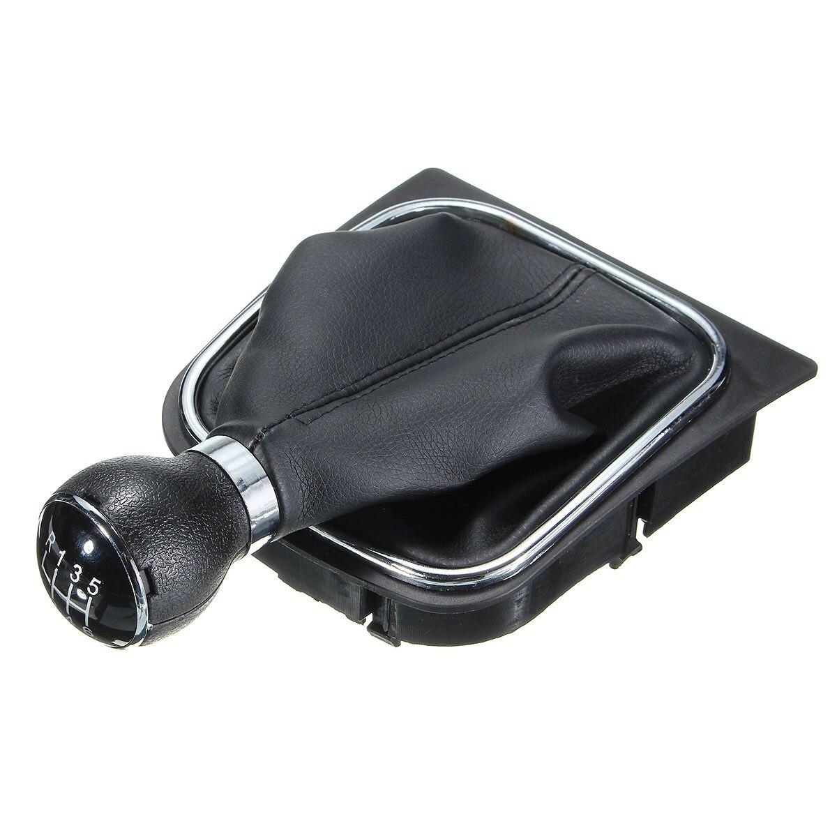 6 Speed Front Gear Shift Knob Gaiter Gaitor Boot For VW Golf Jetta Rabbit MK5 MK6 Plastic Leather Black shift knob leather red line manual transmission mt gear shift knob cover for vw golf 6 mk6 jetta 5 mk5 1kd 711 113 a