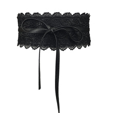 Ремень для женское платье бантом Искусственная кожа Кружева широкий пояс с завязкой Оби Cinch пояс Boho пояс Cinto пояс Feminino