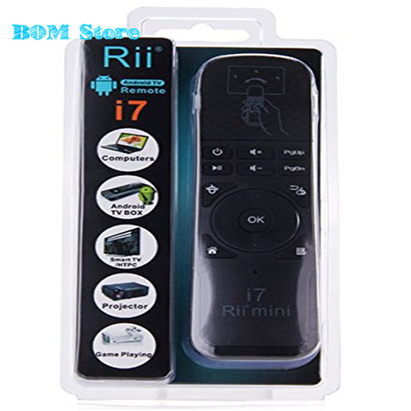 [Genuine]Original Rii Mini i7 2.4G Wireless mini Gaming Fly Air Mouse Remote Control for Android TV Box X360 PS3 Smart PC original rii mini i7 2 4g wireless fly air mouse remote control for android tv box mini gaming x360 ps3 smart pc