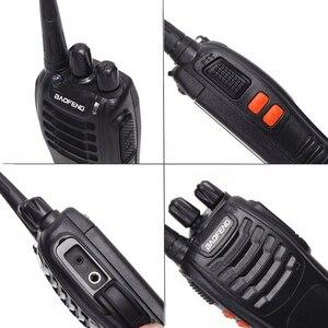 Image 4 - 2 قطعة Baofeng BF 888S لاسلكي تخاطب USB محول للشحن راديو محمول CB راديو UHF 888S Comunicador الإرسال والاستقبال 2 سماعة