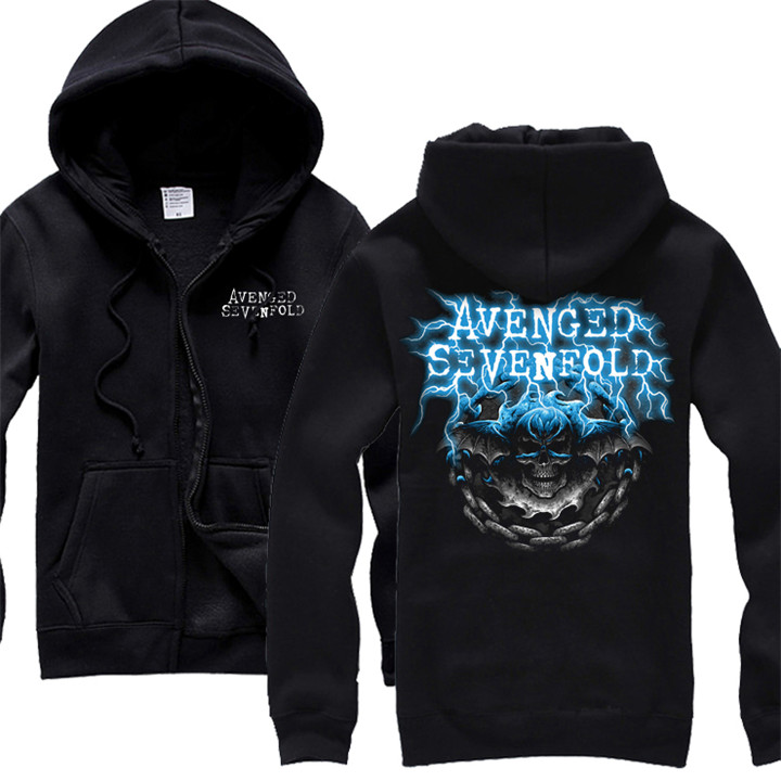 Sweat 3 5 Rock 2 Avenged Survêtement A7x Harajuku shirt 4 Punk Crâne Hoodies Sevenfold Sweat 1 Hardrock Sortes Veste 5 Polaire Zippée nnHU6