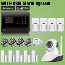 Etiger Casa/Oficina 2.4G WIFI GSM Inalámbrico de Alarma Antirrobo + Cámara de Red de Seguridad