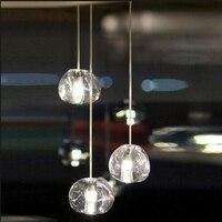 Mizu 3 Light Pendant by Nicolas Terzani from Terzani Suspension Lamp Chandelier Gold/ Transparent Lighting Fixture