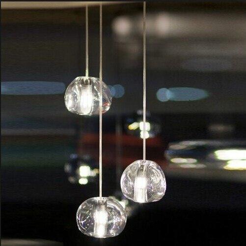 Mizu 3 Lumière Pendentif par Nicolas Terzani de Terzani Suspension Lampe Lustre Or/Transparent Luminaire