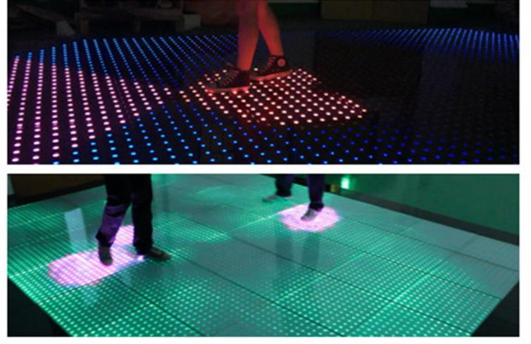 LED tile Free delivery bar DJ stage interactive 12x12 pixel color brighter many wedding digital interactive LEDdance floor вставка aparici dress mesmer inserto 12x12