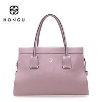 HONGU Fashion Handbags 100 Natural Genuine Leather Womens Top Handle Bags Female Sac A Main Femme