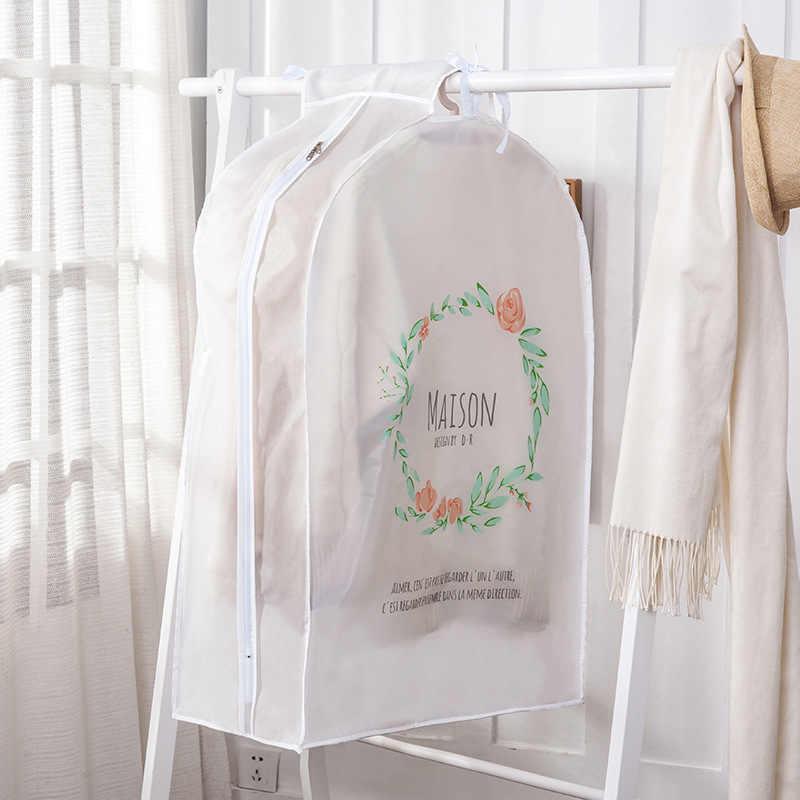 Impermeabile Antipolvere Vestiti Copertura per Abbigliamento Vestito di Vestito Cappotto di Panno Grande Copertura Antipolvere di Plastica Organizzatore Vestiti Antipolvere Caso