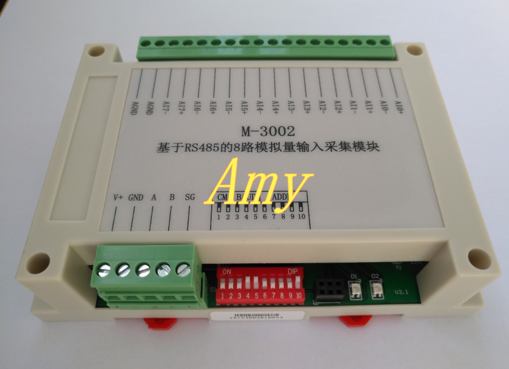 M-3002: 8 way analog input module based on RS485 (current voltage type)