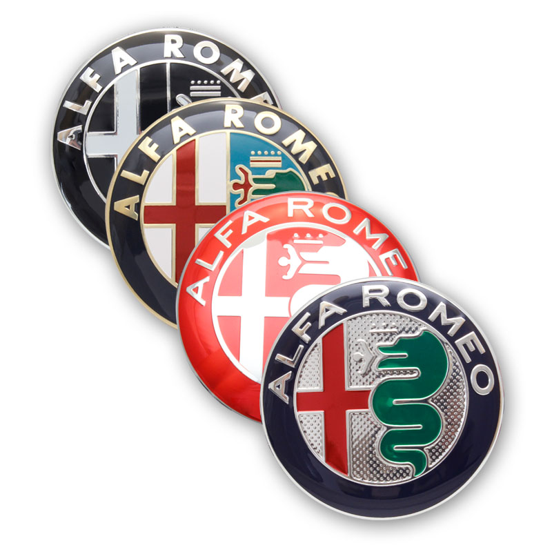 2pcs 7.4cm ALFA ROMEO Car Logo Emblem Badge Sticker For Mito 147 156 159 166 Giulietta Mito Spider GT Car-styling Accessories