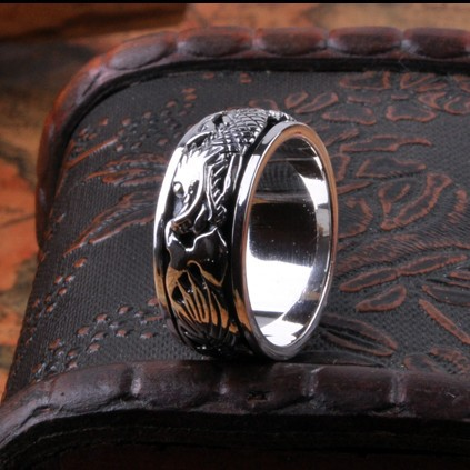 Handmade 925 Silver Tibetan Dragon Turning Ring Lucky Ring Pure Silver Power Dragon Ring Good Lucky Dragon Spinning Ring new pure au750 rose gold love ring lucky cute letter ring 1 13 1 23g hot sale