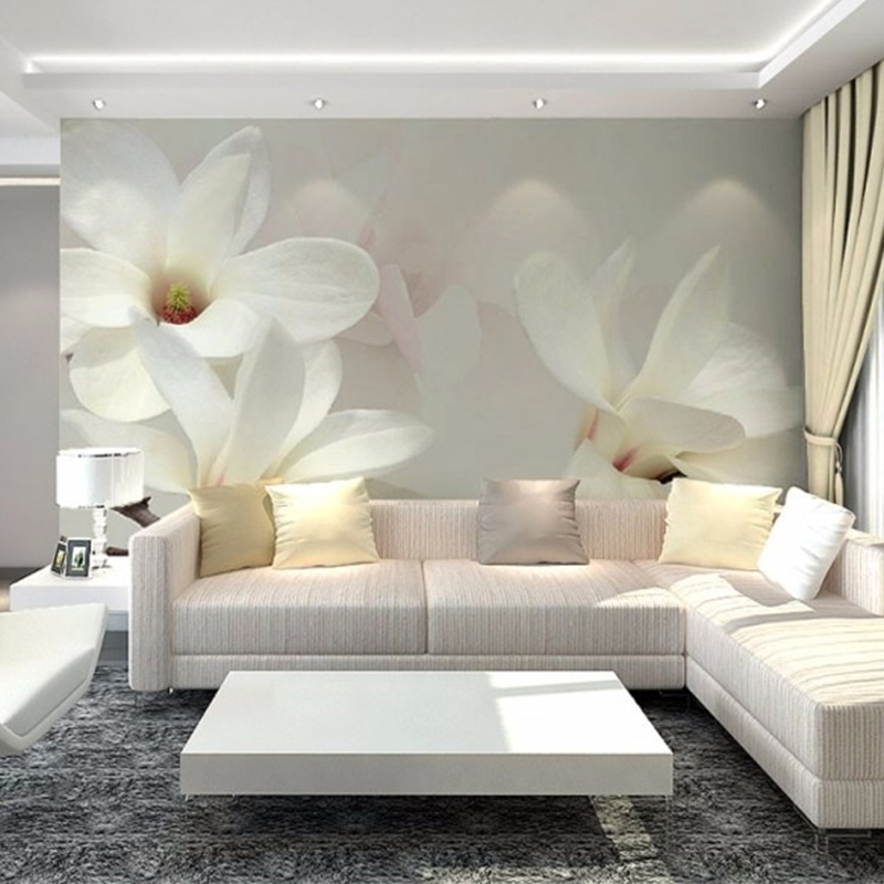 Custom 3D Photo Wallpaper Scenery For Walls 3D Magnolia Mural Painting Bedroom TV Background Home Decor Wall Paper Wallcoverings
