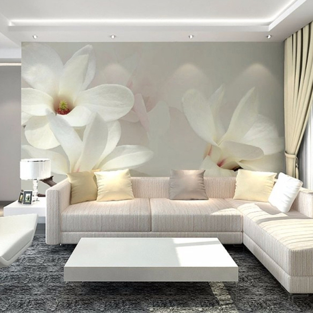 Custom 3D Photo Wallpaper Scenery For Walls 3D Magnolia Mural Painting  Bedroom TV Background Home Decor