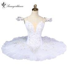 Adult white swan lake ballet tutu professional ballet costumes women platter tutu pancake girlsBT8931