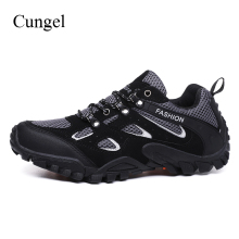 Cungel Outdoor trekking Hiking shoes Sneakers Men Spring/Summer breathable anti-skid soft Mesh shoes Mountain climbing shoes